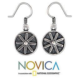 Sterling Silver 'Lucky Flower' Earrings (Mexico)