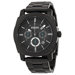 Fossil Men's 'Machine' Black Stainless Steel Chronograph Watch