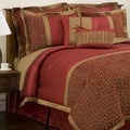 Lush Decor Red/ Gold Geometrica Gala 8-piece Comforter Set