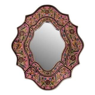 Reverse Painted Glass 'Romance' Mirror (Peru)