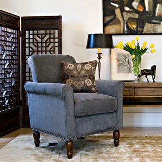 angelo:HOME Harlow Twillo Bluestone Accent Arm Chair
