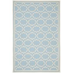 Safavieh Hand-woven Moroccan Reversible Dhurrie Light Blue/ Ivory Wool Rug (9' x 12')