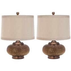 Safavieh Indoor 1-light Gold Beaded Table Lamps (Set of 2)