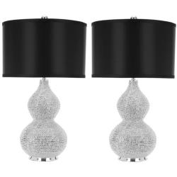 Safavieh Indoor 1-light Silver Beaded Table Lamps (Set of 2)