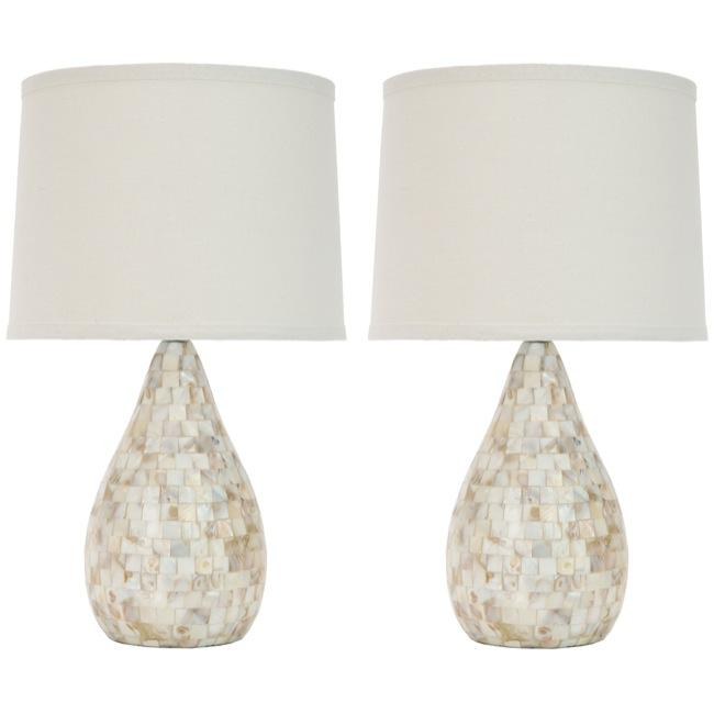 Safavieh Indoor 1-light Mother of Pearl Table Lamps (Set of 2)