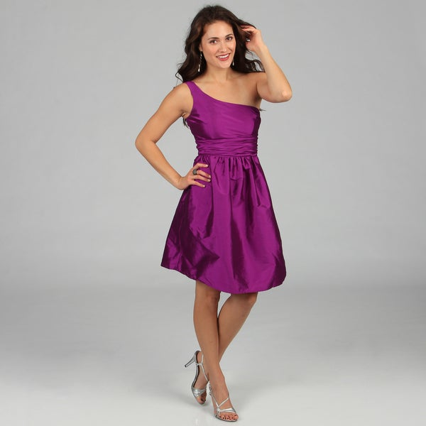 Eliza J Women's One-shoulder Pleated Asymmetrical Dress