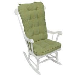 Moss Microfiber Reversible Rocking Chair Jumbo-size Cushion Set