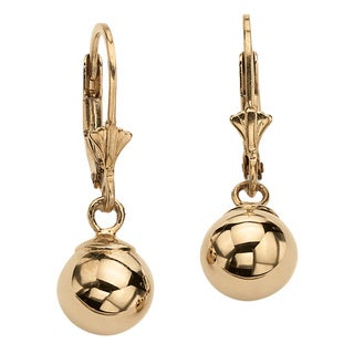 PalmBeach 18k Gold over Silver Dangle Earrings Tailored