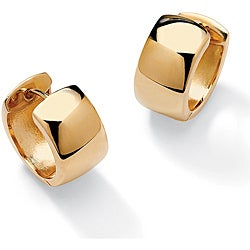 PalmBeach 18k Gold over Silver Cuff Earrings Tailored