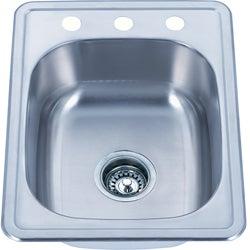 Somette Top Mount Stainless Steel Single Bowl Kitchen Sink
