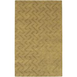 Hand-knotted Antalia Basket weave Pattern Wool Rug (9' x 13')