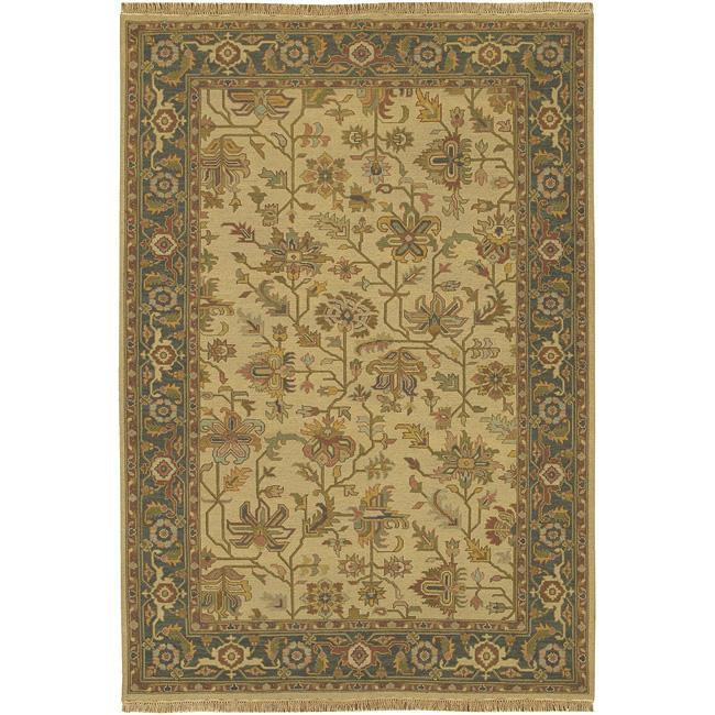 Hand-knotted Savoy Wool Rug (6' x 9')