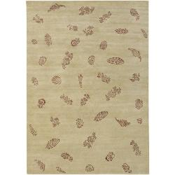Hand-knotted Mantis Wool Rug (9' x 13')