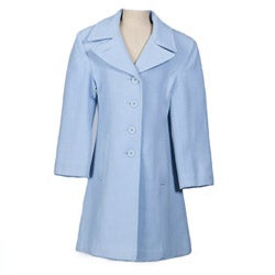 Stephanie Mathews Girl's Powder Blue Wool-blend Coat