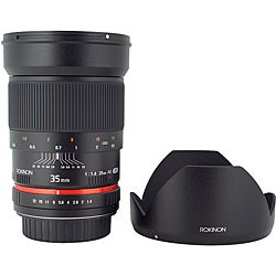 Rokinon 35mm f/1.4 Aspherical Lens for Canon Cameras