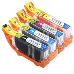 INSTEN Canon Compatible CLI-221 CMYK Black/ Color Ink Cartridge (Pack of 4)