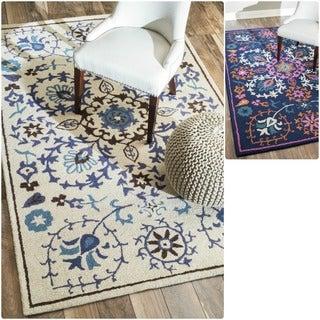 nuLOOM Hand-tufted Marrakesh Suzani Wool Rug (5' x 8')