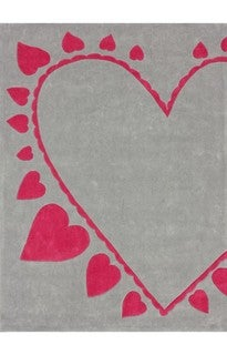 nuLOOM Handmade Deco Kids Hearts Rug (3'6 x 5'6)
