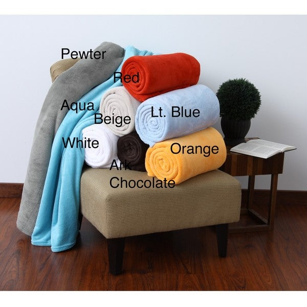 Micro Raschel Plush Blanket