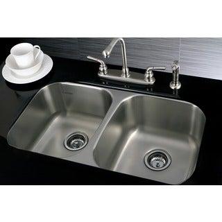 Stainless Steel 31-inch Undermount Double-bowl 18-gauge Kitchen Sink