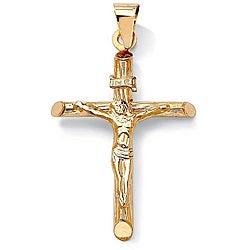 PalmBeach 14k Yellow Gold Crucifix Charm Tailored