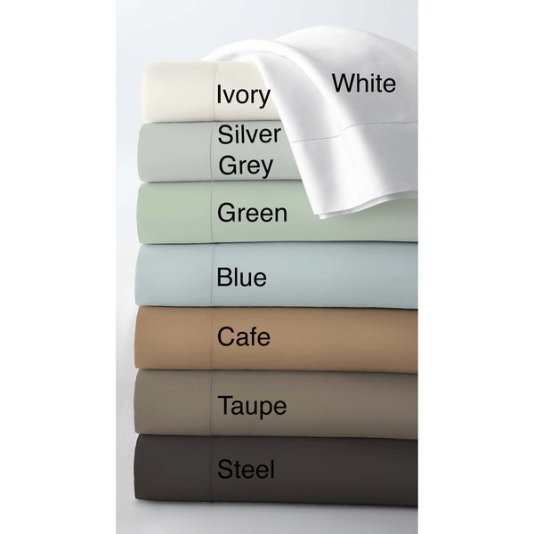 Egyptian Cotton 800 Thread Count Extra Deep Pocket Sheet Set or Pillowcase Seperates with Luxury-size Flat