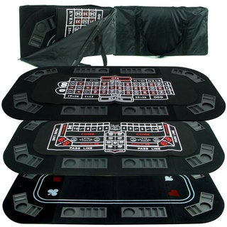 Casino 3-in-1 Tri-fold Poker Craps or Roulette Table