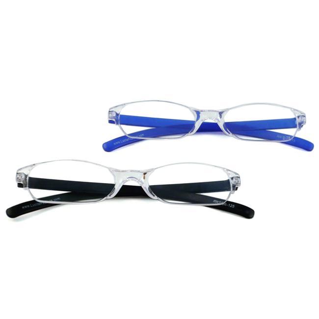 Urban Eyes Lucite Readers Darks Women's Reading Glasses (Pack of 2)