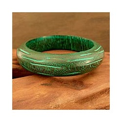 Mango Wood 'Empress' Bangle Bracelet (India)