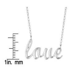 Sterling Silver Expression Love Necklace