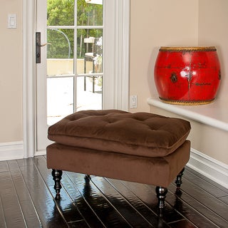 Christopher Knight Home Chocolate Brown Tufted Ottoman