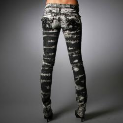Laguna Beach Jeans Women's Hermosa Beach Black Wash Burn Out Pants