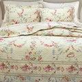 Rose Romance 3-piece Quilt Set and Optional Sham Separates