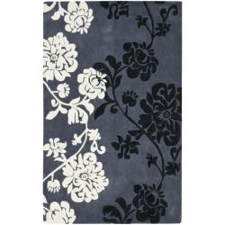Safavieh Handmade Avant-garde Shadows Dark Grey Rug (8' x 10')