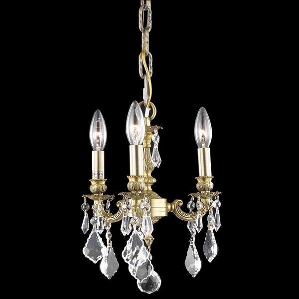 Somette Crystal 3-light French Gold Chandelier