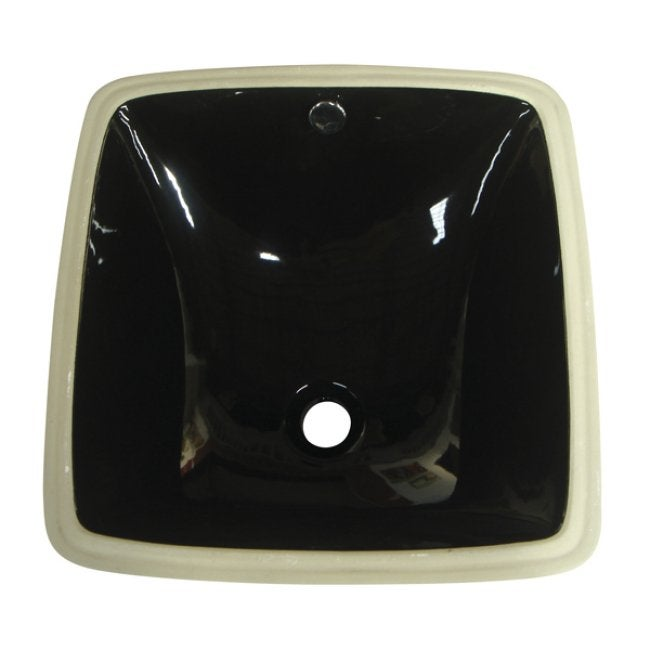 Vitreous China Black Undermount Bathroom Sink