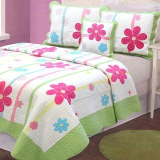 Spring Fling Flower 3-piece Quilt Set