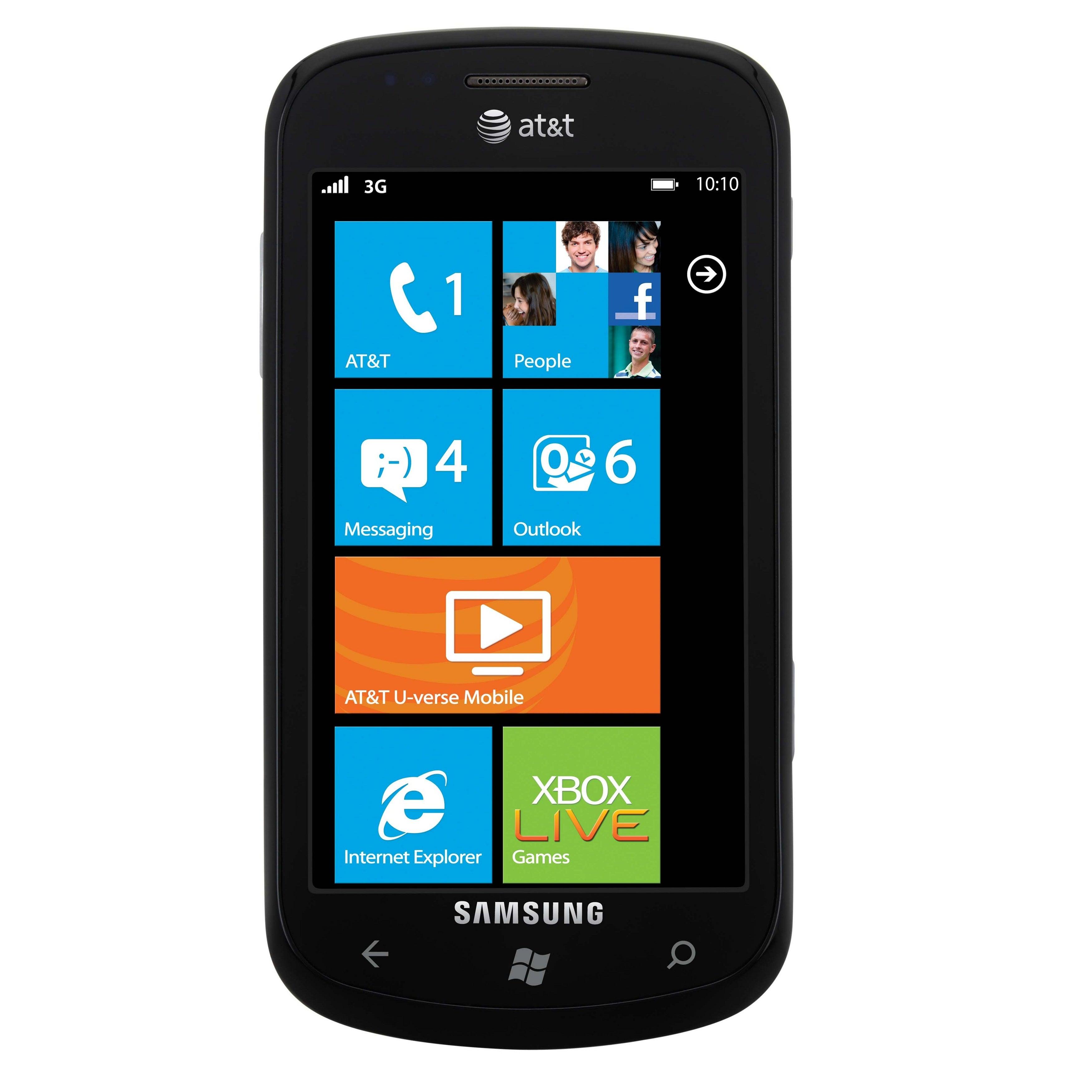 Samsung Focus I917 Unlocked GSM Windows 7 OS Cell Phone - Black