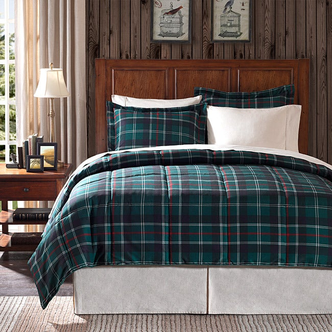 Premier Comfort Franklin Plaid Full/ Queen-size 3-piece Down Alternative Comforter Set