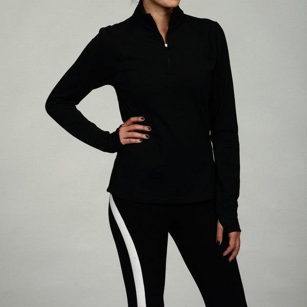 Calvin Klein Performance Women's Black Half-zip Pullover Jacket