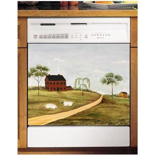 Appliance Art Grazing Sheep Dishwasher Cover Panel