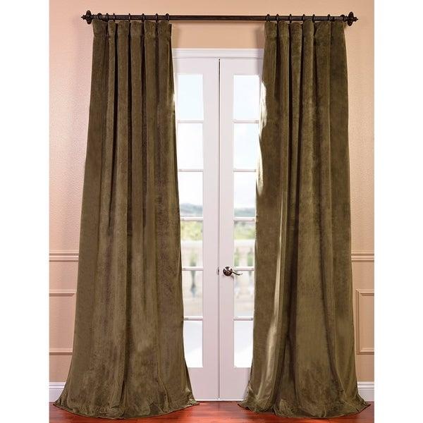 Signature Hunter Green Velvet 108-inch Blackout Curtain Panel