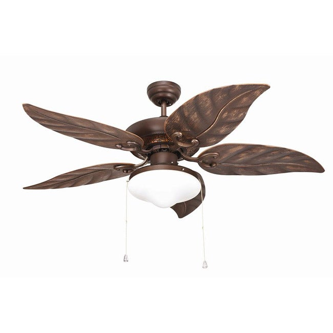 Outdoor 48-inch Rubbed Bronze 2-light Ceiling Fan