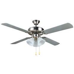 Transitional 52-inch Nickel Ceiling Fan