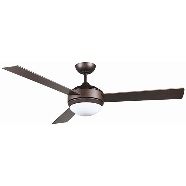Modern Ceiling Fans With Lights: Contemporary Bronze Two-light Ceiling Fan