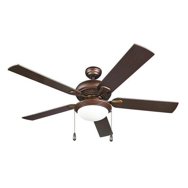 Contemporary Bronze 2-light Ceiling Fan
