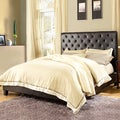 ETHAN HOME Sophie Dark Brown Vinyl Tufted Full-size Bed