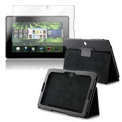 INSTEN Leather Phone Case Cover/ Screen Protector for BlackBerry Playbook