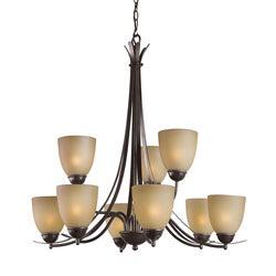 Woodbridge Lighting Kearney 9-light Mahagony Bronze Chandelier