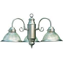 Glass Woodbridge Lighting Basic 3-Light Satin Nickel Chandelier